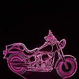 Luce Notturna 3D 7 Colore Touch Regali Lampada Per La Protezione Degli Occhi Della Motocicletta Dei Prodotti Di Illuminazione Notturna