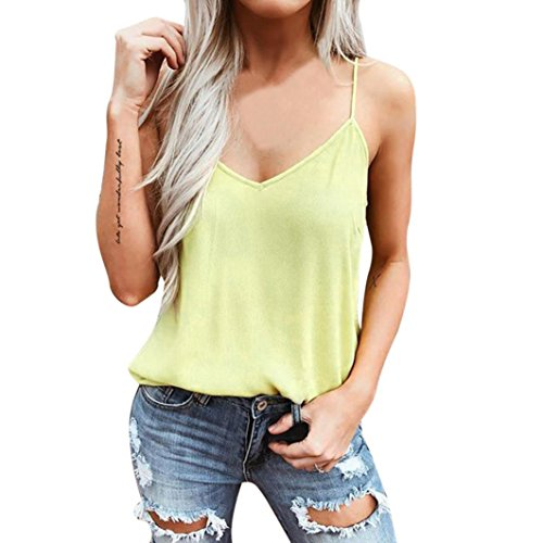 FNKDOR Summer Women Ladies Club Dance Show Beach Cool Sexy Chiffon Solid Summer Casual Blouse Top Shirts Adjusted Strap Tank Vest