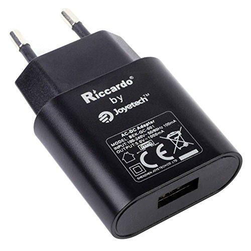 Riccardo 1 A USB-Netzstecker/EU-Adapter, schwarz, 1 Stück