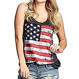 Frauen-Sommer-Trägershirt, HUYURI-Nationalflagge Druck-reizvolle Weste-Blusen-T-Shirt