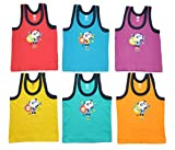 #1: Zero Baby Sleeveless Vests for 12-18 Months, Cotton, Pack of 6