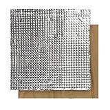 Sooway imprimante 3d plate-forme Hot Lit Isolation Coton léger en mousse Feuille Autocollant Tapis Isolation thermique Compatible avec Creality Cr-10s Ender 3 Anet A8, 200*200*10mm, Silver, 1
