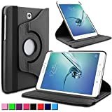 Infiland Samsung Galaxy Tab S2 9.7 Étui Housse Case- PU cuir 360 °degrés de rotation stand Smart ...