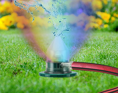 """Regenbogen-Sprinkler """"Watermagic"""" mit 6-fach Farbwechsler Rasensprenger Ø 10/H. 27 cm"""