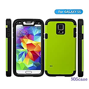 Galaxy S5 Case,sumsung S5 Case,sumsung Galaxy S5 Case,no5case*new*[shockproof][lightweight][fit Best]perfect Protection Simple and Elegant (Green)