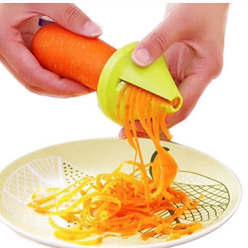 TOSSPER Embudo Modelo en Espiral Vegetable Slicer Shred Zanahoria Rábano Dispositivo Cortador destrozado...