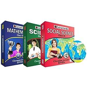 Extraminds Class IX Mathematics - Science - Social Science CBSE (DVD)