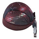 HYSENM Kopftuch Cap Erwachsen Atmungsaktiv Anti-UV für Radsport Motorrad Bandana, Rot