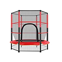 Trampoline for Kids, 55In Kids Mini Fitness Trampolines With Enclosure Net Jumping Mat Spring Cover Trampoline for Indoor Outdoor, Jumping Fun for Kids