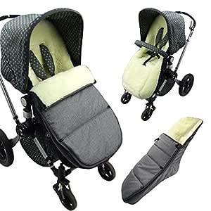 Bambiniwelt Bugaboo Fußsack Für Modell Cameleon Sitzauflage Mit Lammwolle Winterfußsack Grau Mod K Baby
