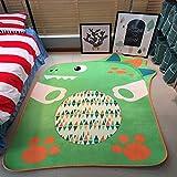 KOOCO Cartoon Allotype Tier Teppich Kinderzimmer Home Teppich für Wohnzimmer Kinder spielen Spiel Fußmatte Arbeitszimmer Teppiche, Dinosaurier, ca. 150 X 200 CM, China