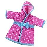 Gazechimp Puppen Bademantel Pyjamas Saunamantel Nachthemd Kleidung Für 18'' Amerikanische Mädchen Puppe - Pink Blau