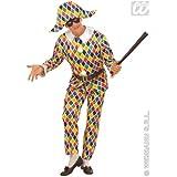 M Mens Harlequin Costume for Clown Masquerade Fancy Dress Male UK 40-42 Chest