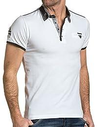 BLZ jeans - Polo homme blanc col stylé