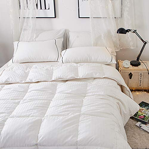 SN01Streifen Bettbezug, weiß, Twin/Twin XL-68*90inch