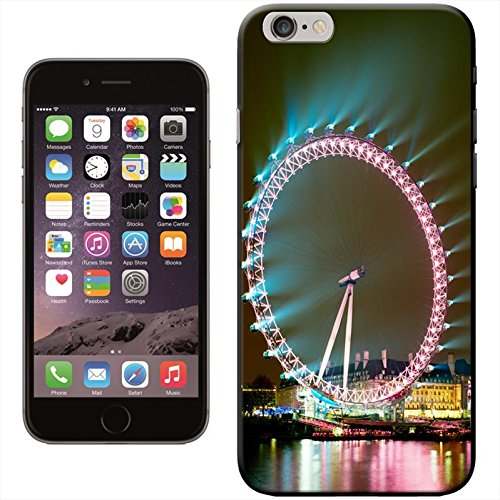 Fancy A Snuggle 'Double Decker Red Bus Big ben' Hard Case Clip On Back Cover für Apple iPhone 5 C London Eye Lit Up Bright
