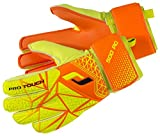 Pro Touch Kinder Force 500 PG Jr. Torwarthandschuhe, Neon Orange/Gelb/Schwarz, 5