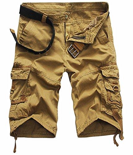 UMilk Herren Casual Cargo Kurze Hosen mit Multi Pockets (Gürtel nicht inbegriffen) (Ace Royal Farbe)