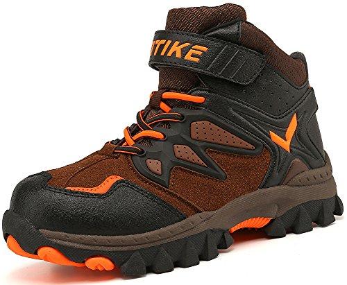 Kinder Baumwollschuhe Kletterschuhe Dschungel Jungen Gehen Trekking Leicht Draussen Sportlich Schuhe Wanderschuhe, 1-orange, 36 EU