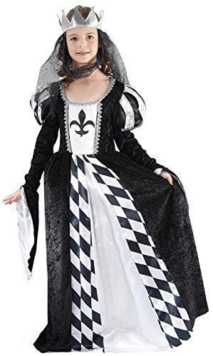 Kinder Wunderland Und Kostüm Alice - Fancy Me Mädchen Mittelalterlich Schach Königin Alice im Wunderland Büchertag Woche Halloween Kostüm Kleid Outfit 4-12 Jahr s - 10-12 Years
