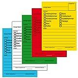 100x Umzugetiketten, 5 Farben, Aufkleber Beschriftung mit Etiketten vom Umzugskarton für den Überblick beim Umzug