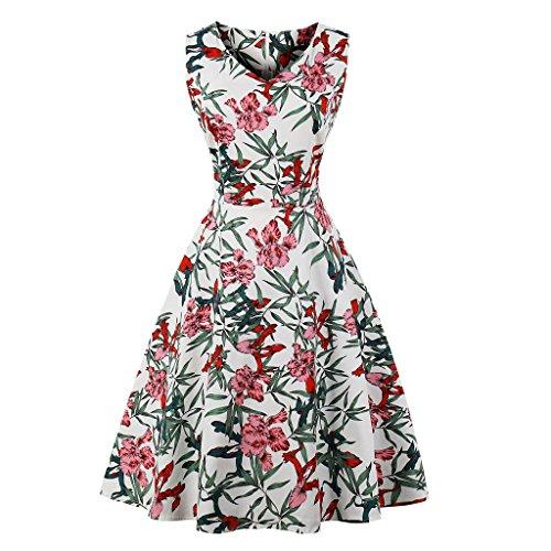 CMKEJI 50er 60er Retro Kleider Damen Mit Tupfen Abendkleid Vintage Damen Rockabilly...