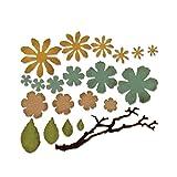 Sizzix Troquel, Pequeños jirones florales,  Metal