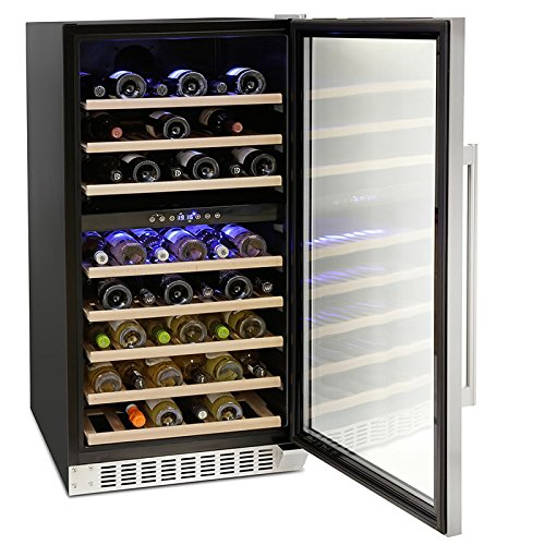 Montpellier WS94SDX Dual Zone 94 bottle Wine Cooler in Stainless Steel