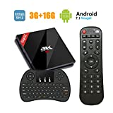 Neuste EstgoSZ TV Box 4K Android 7.1 Smart TV Box 3GB + 16GB Amlogic 912 64bit Octa-Core HD TV Set Top Box Unterstützung Dual Band Wireless Ethernet 1000M LAN Bluetooth 4.1 mit Kabellose Tastatur