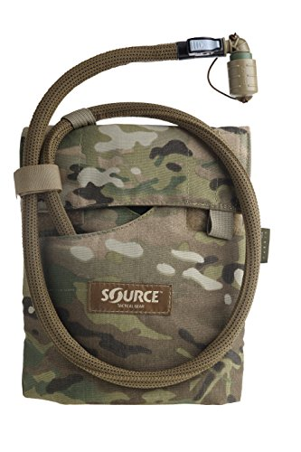 Source Tactical Kangaroo 1L Collapsible Canteen with Pouch Trinksystem, Multicam, 1 Liter / 32 oz. -