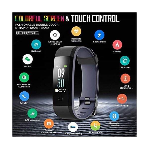Fablino Color Screen Fitness Tracker Heart Rate Monito