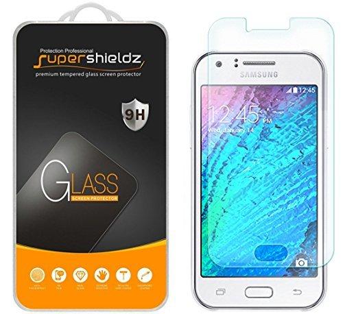 [2er Pack] Supershieldz für Samsung Galaxy J1(Verizon) gehärtetem Glas Displayschutzfolie, Kratzfest, Keine Fingerabdrücke, blasenfrei, lebenslange Umtausch-Garantie Verizon Pack