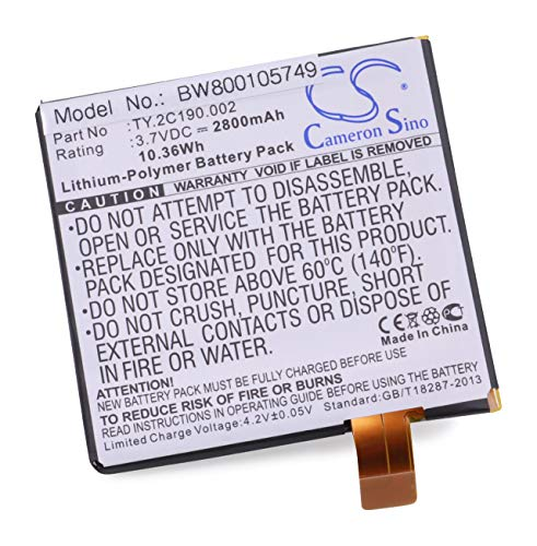 vhbw Batterie 2800mAh (3.7V) pour tablette Dell Looking Glass, Opus One, Streak 7 remplace TY.2C190.002.