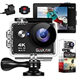 Besty 4K WiFi Wasserdicht Actioncam Kamera 12MP 2 Zoll Full HD 1080P 170 °Weitwinkel Sports Camera...