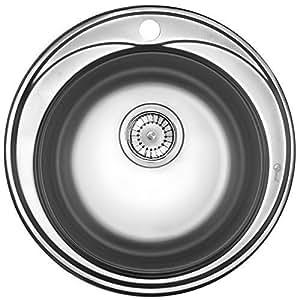 edelstahl sp le sp lbecken edelstal rund waschbecken einbausp le sp le zub sp lbecken rund. Black Bedroom Furniture Sets. Home Design Ideas
