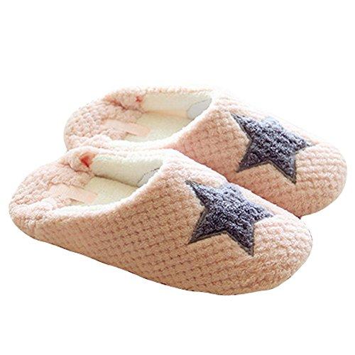 Butterme donne sveglie crochet knit bow antiscivolo morbido pelo scarpe pantofole scuff casa al coperto