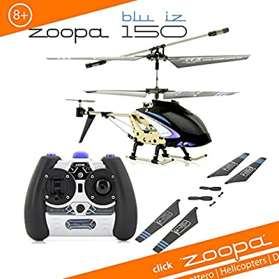 Acme - zoopa 150 Blu Iz 2.4 GHz helicopter with Ambient Lights |60 m Range/Aluminium Frame/Easy to Fly with latest gyroscope technology (AA0178)