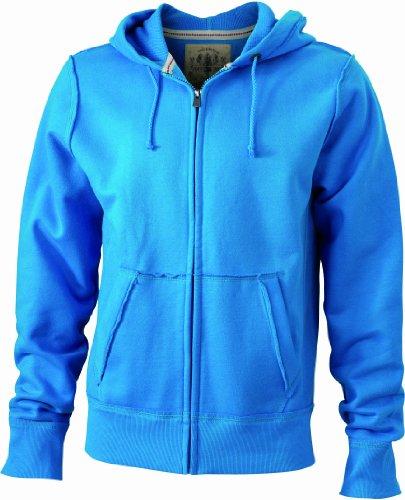 James & Nicholson Kapuzenjacke Men's Vintage Hooded Sweatshirt Felpa, Uomo Turchese (turquoise)
