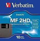 Verbatim 10 Disquettes 3,5' Haute densité Datalife MF 2HD 87410