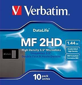 Verbatim 87410 MF2HD 3.5 Inch DS/HD IBM 1.44 MBDiskettes (Pack of 10)