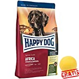 HAPPY DOG Supreme Sensible Africa HDSA +BALL Gratis Hundefutter Für sensible Hunde Futter (12,5 kg)