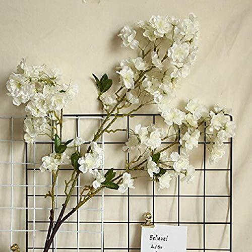 Sljhua mazzo fiori artificiali bouquet di fiori artificiali piante artificiali vero impianto giardino realistico ufficio 1 ramo classico moderno eterno da tavolo fiore bianco