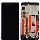 Huawei P9 Display LCD Touchscreen Einheit kompatibel mit Rahmen (schwarz)