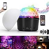 UKing - Bola de discoteca LED para fiestas con Bluetooth y altavoz (7 modos de luz, proyector con mando a distancia, cable USB, para Halloween, Navidad, cumpleaños, fiestas, decoración de casa)