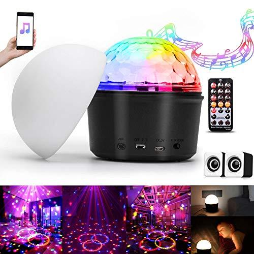 Discokugel, UKing LED Discolicht Partylicht Party Lampe mit Bluetooth Musik 7 Modi Lichteffekte Projektor Beleuchtung mit Fernbedienung USB Kabel für Weihnachten Geburtstag Party Haus Dekoration