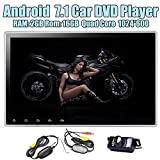 Android 7.1 Nougat 2GB RAM Car Stereo Double 2 Din DVD Player Radio mit 10,1 Zoll kapazitiver Multi-Touch-Screen-Unterst¨¹tzung Bluetooth Autoradio GPS-Navigation Wifi USB / SD / FM / AM 3G 4G + Wire