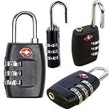 Nuevo Código De Candado De Combinación (3diales [] de viaje maleta de equipaje candado de seguridad 2piezas negro Color, [una ranura libre gamuza de limpieza]
