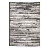 Outdoor-Teppich Flachgewebe Modern, Meliert, mit Streifen in Braun, Beige und Creme für Außen/Innen Größe 160/230 cm