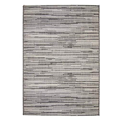 Outdoor-Teppich Flachgewebe Modern, Meliert, mit Streifen in Braun, Beige und Creme für Außen/Innen Größe 160/230 cm (Outdoor-teppich Braun)