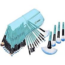 Manta Profesional 32 Brochas / Pinceles Maquillaje Color Azul de Vander